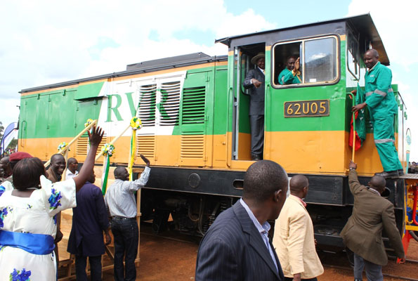 hat) flags off the Rift Valley Railway operations earlier.