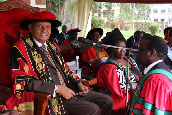 MUK Chancellor Prof.Mondo Kagonyera at an earlier graduation ceremony