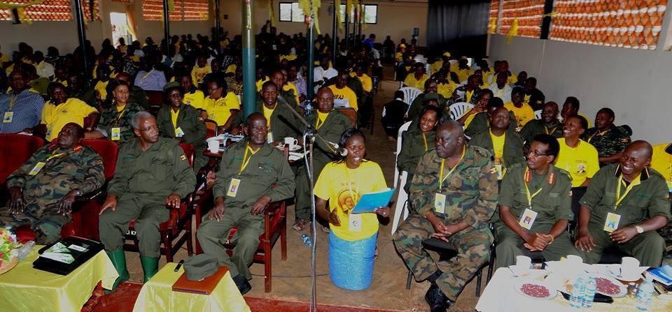 NRM caucus spokesperson Evelyn Anite in Kyankwanzi earlier