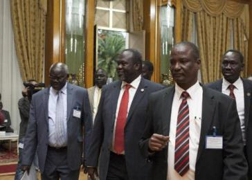 Riek Machar delegation