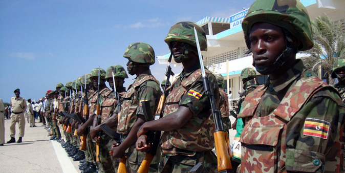 UPDF troops on Peace Keeping Mission