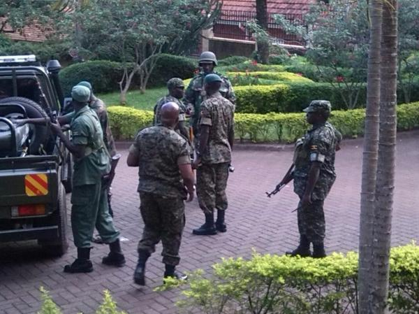 Army at Mbabazi's home