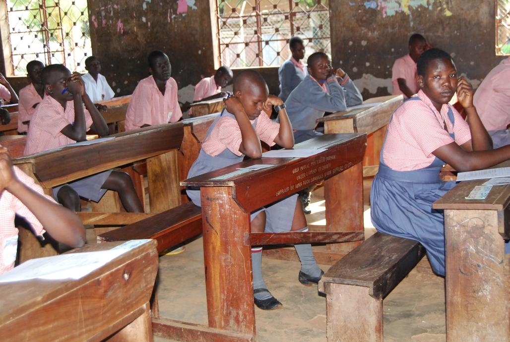 Pupils sitting PLE