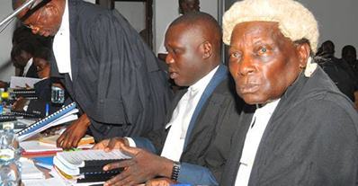 Kanyeihamba at court earlier
